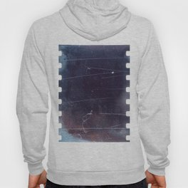 black scratched 35mm film frame, emulsion texture Hoody