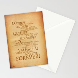 Viking Prayer Stationery Cards