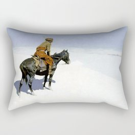 "Frederic Remington Western Art ""The Scout"" Rectangular Pillow"