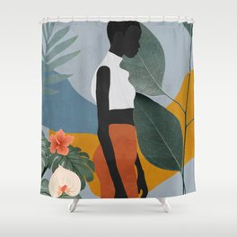 Tropical Girl 5 Shower Curtain