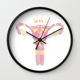 Royal Uterus Pattern Wall Clock