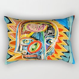 """Child"" street art brut expressionist digital painting Rectangular Pillow"