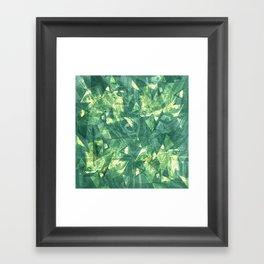 Green crystal lights Framed Art Print