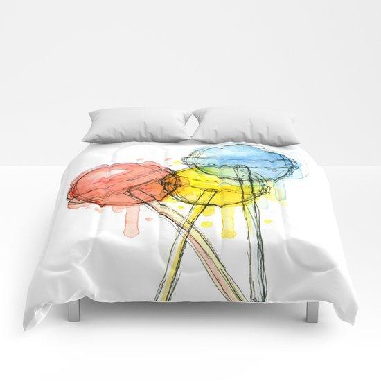 Lollipop Candy Watercolor  Comforters