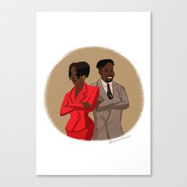 Maxine Shaw and Kyle Barker / Living Single Canvas Print
