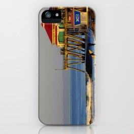 Morning Surfing Huntington Beach Pier iPhone Case