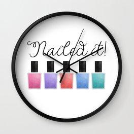 Nailed It Wall Clock