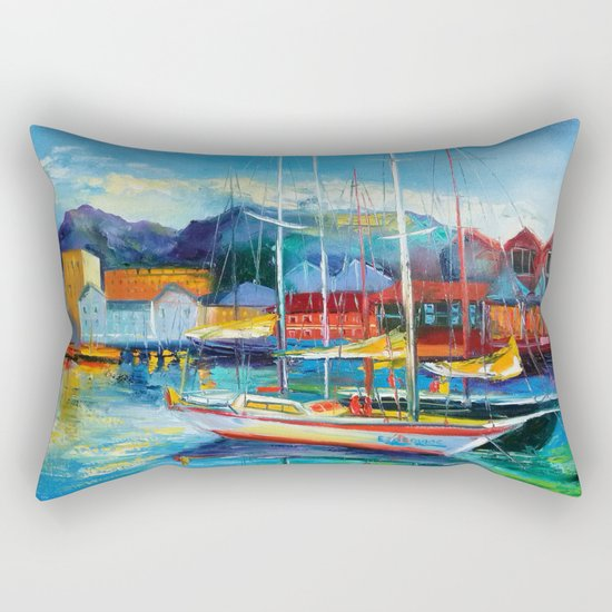 Boats Spain Rectangular Pillow