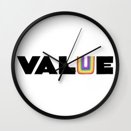 VALUE  (U have it!) Wall Clock