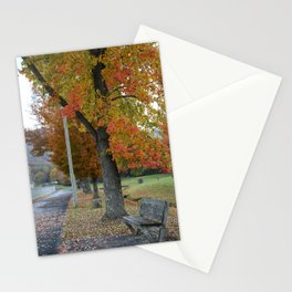 Autumn Bench Stationery Cards