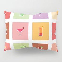 Classic Cocktails Print Art Poster | Drink Recipes | Bar Poster | Bar Art | Kitchen Art | Alcohol Pillow Sham
