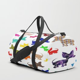 colorful chihuahuas on parade  Duffle Bag