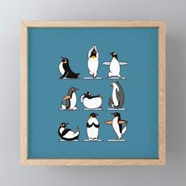 Penguin Yoga Framed Mini Art Print