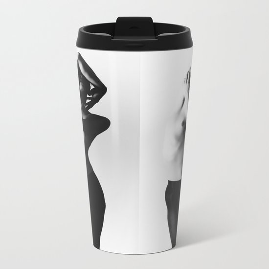 Nude dancer black and white nude photography 2010 Metal Travel Mug