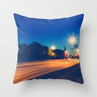 houston Throw Pillows featuring Houston by GF Fine Art Photography