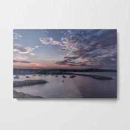 Sunset over Rockport Harbor Metal Print