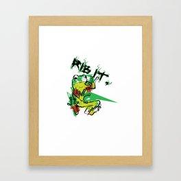Ribbit! Framed Art Print