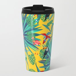 tropical yellow Travel Mug