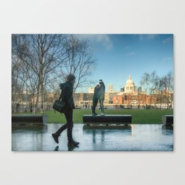 Walk On By London Canvas Print