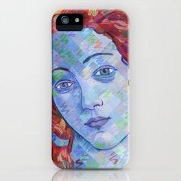 Variations On Botticelli's Venus - No. 3 (Primary Colors) iPhone Case