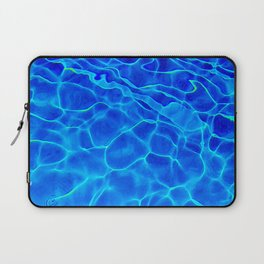Blue Water Abstract Laptop Sleeve