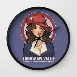 I Know My Value Wall Clock