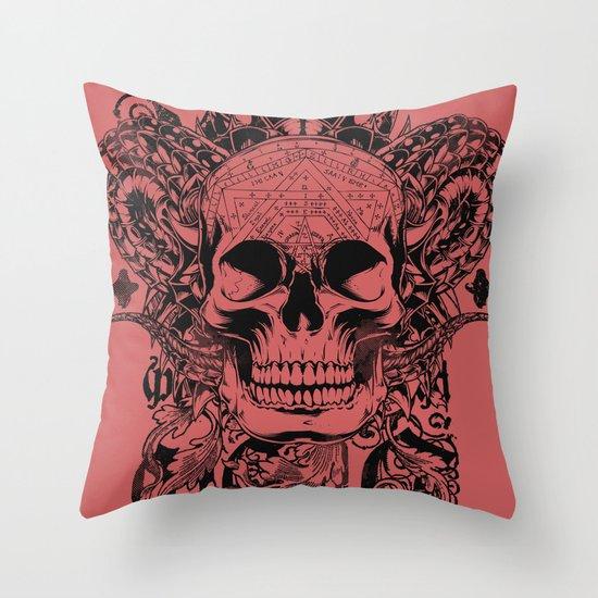 Cobra skull Throw Pillow