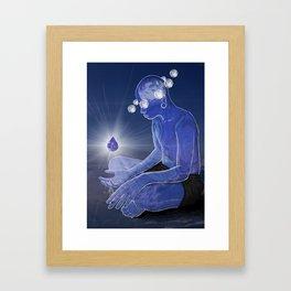 Labradorite gemstone Framed Art Print