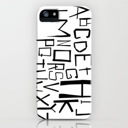 Alphabet #2 iPhone Case