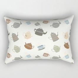 Coffee and Tea Pots (Dark Version) Rectangular Pillow