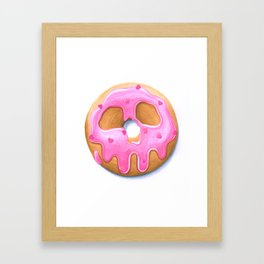Death & Donuts (pink) Gerahmter Kunstdruck