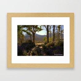 Natural Lupin Garden Framed Art Print