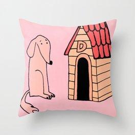 Dog House Throw Pillow