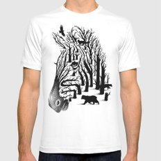 HIDDEN ANIMALS 2X-LARGE White Mens Fitted Tee