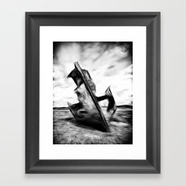 Ghostly Wreck Framed Art Print