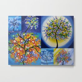 Circle trees by Catherine Jacobs of SheerJoy and TheCateEscape Metal Print