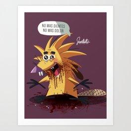 Angry B. Art Print