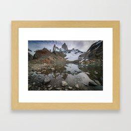 Fitz Roy Glacier Lake Framed Art Print