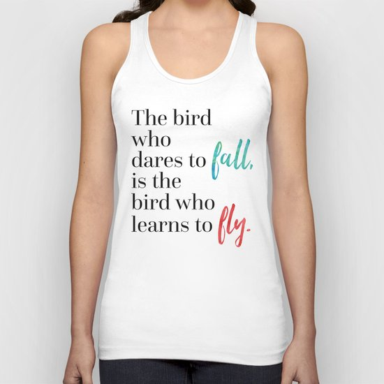 Learn To Fly Quote Unisex Tank Top