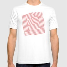 Stripes 4 White MEDIUM Mens Fitted Tee