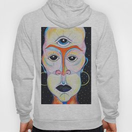 Third Eye Alien Geometric Painting Ascension Clairvoyant Channeled ARtwork Hoody