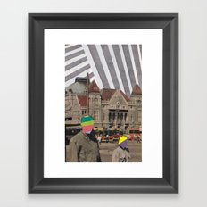 travel weary Framed Art Print