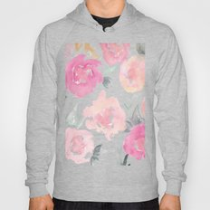 Muted Floral Watercolor Design  Hoody