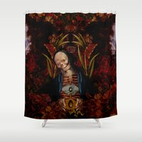 egg Shower Curtains featuring Cosmic Egg by DIVIDUS