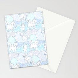 Alaskan Malamute Ice Den Stationery Cards