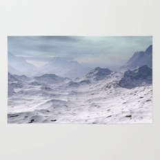 Snow Covered Mountains Rug