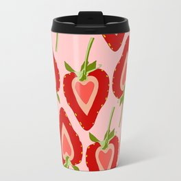 Strawberry Hearts Travel Mug