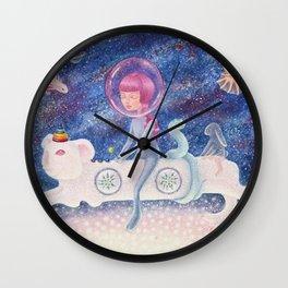 Space Edelweiss Wall Clock