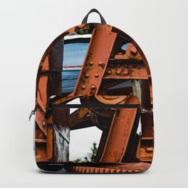The Old Rusty Ship Crane Backpack