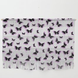 Black and pink butterflies Wall Hanging